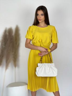 Šaty dlhé plisovaná sukňa 9733