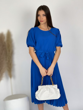 Šaty dlouhé plisovaná sukně 9733