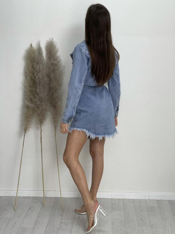 Šaty rifľové s opaskom 5851