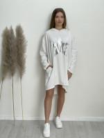 Šaty teplákové s kapucňou hviezda 32092