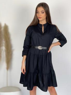 Šaty bavlnené s opaskom 3076