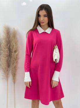 Šaty nad kolená límček 3038
