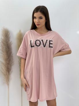 Šaty nad kolená LOVE 32203