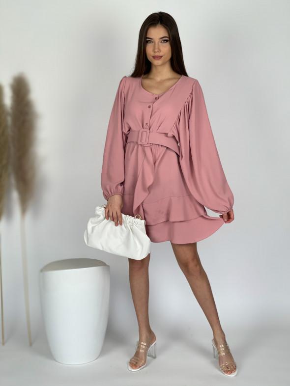 Šaty nad kolená s opaskom 3070