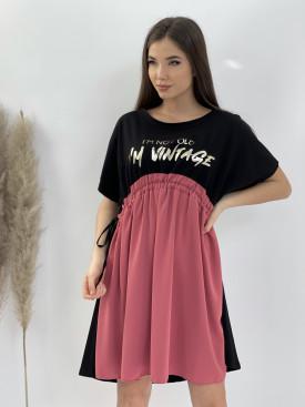 Šaty nad kolená VINTAGE 6380