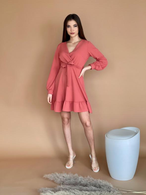 Šaty nad kolena volánek 20501