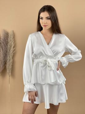 Šaty krátke saténové 618