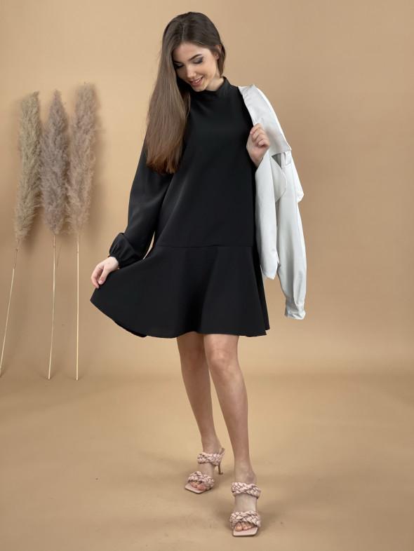 Šaty nad kolená stojačik 90449