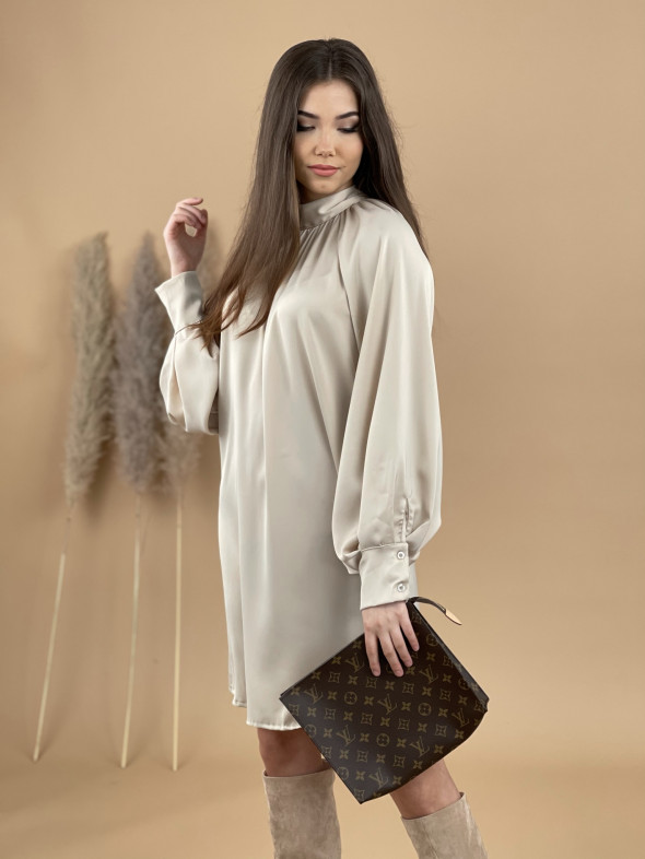 Šaty saténové 17020
