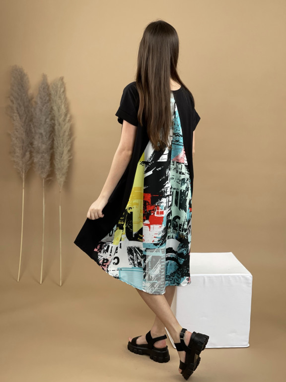 Šaty teplákové farebný zad 6841