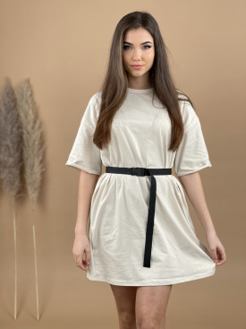 Šaty teplákové s opaskom 3077