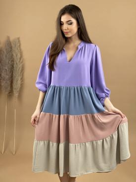 Šaty viacfarebné midi 1538
