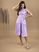 Šaty volánikové s opaskom 2275
