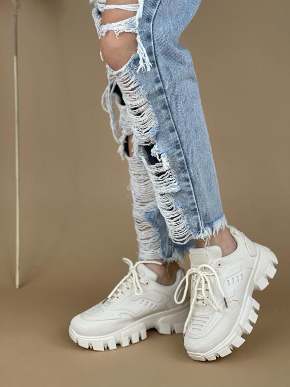 Topánky LA155 béžové