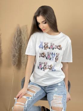 Tričko zajkovia a mackovia 8133