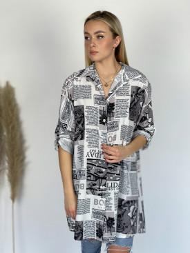 Košeľa noviny 9049