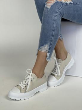 Topánky LA138 béžová