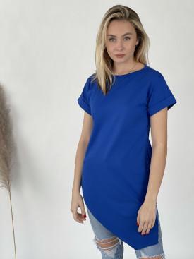 Tričko jednobarevné asymetrické 12035