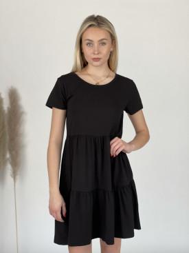 Šaty teplákové krátký rukáv 9844