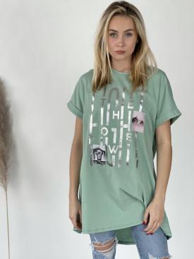 Tričko strieborný nápis 51971