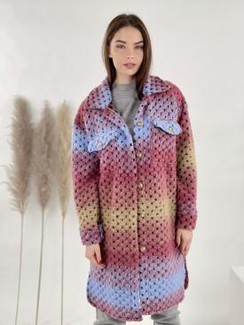 Kabát farebný po kolená 6035