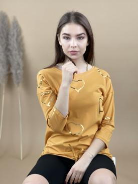 Tričko dlouhý rukáv zlaté srdce