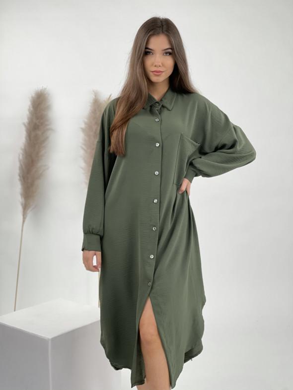 Šaty dlhé košeľové na gombíky 1075