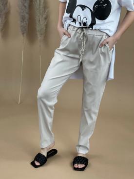 Nohavice strieborná šnúrka 1180