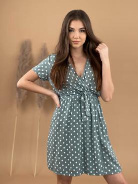 Šaty tečkované s páskem 8980