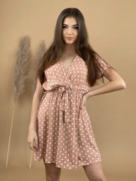 Šaty bodkované s opaskom 8980