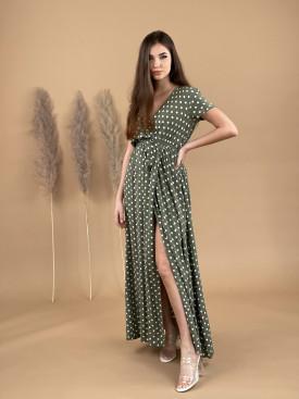 Šaty dlhé bodkované 8809