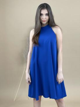 Šaty jednofarebné ku krku 30848