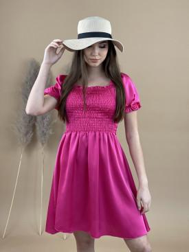 Šaty jednobarevné na gumu 20271