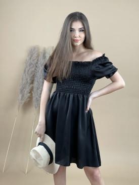 Šaty jednofarebné na gumu 20271