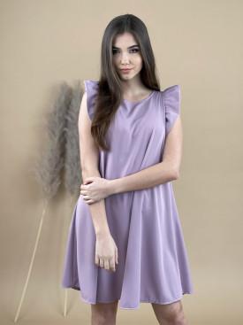 Šaty jednofarebné volánkový rukáv 90320