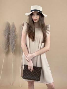 Šaty jednobarevné volánový rukáv 90320