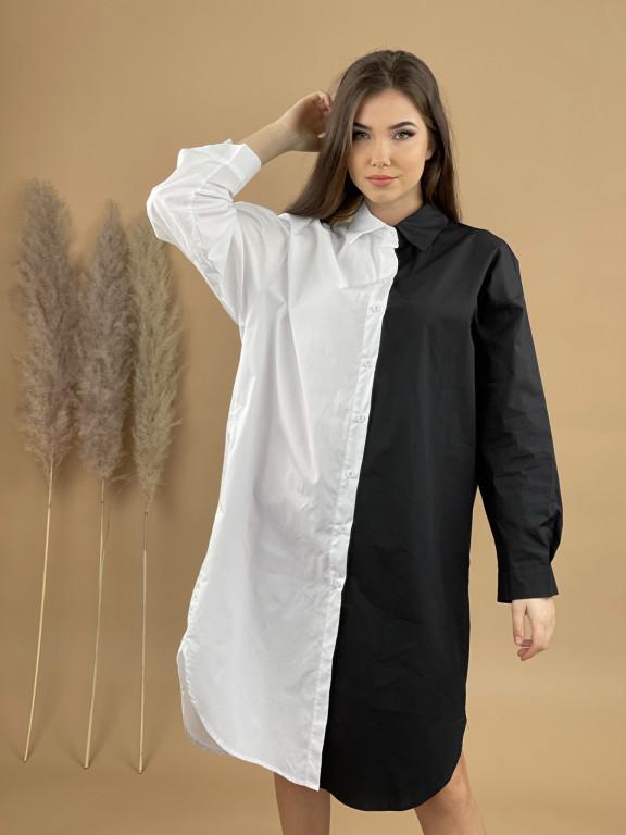 Šaty košeľové pod kolená 10475