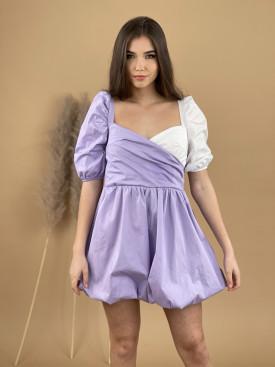 Šaty krátke dvojfarebné 9754