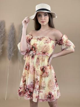 Šaty nad kolena květované 9627