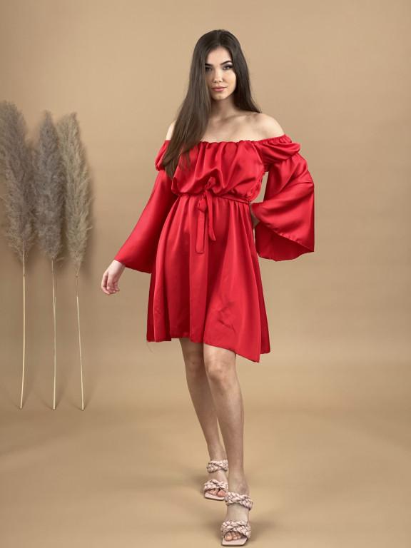 Šaty pod kolená s opaskom 3067