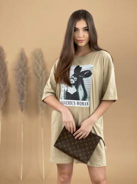 Šaty teplákové DANGEROUS WOMAN 12172