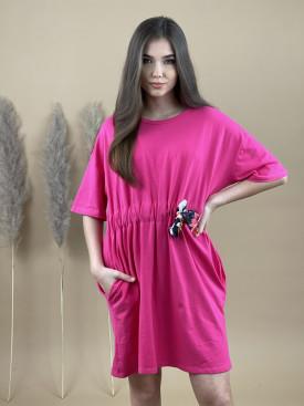 Šaty teplákové mašle 6862