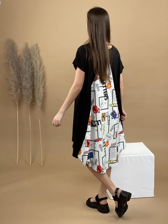Šaty teplákové OMG blesk 6841