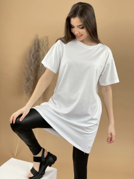 Tričko jednofarebné predĺžené 8121