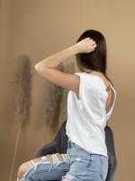 Tričko retiazka a vypchaté ramená 6169
