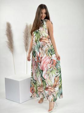 Šaty dlouhé exotic 14041