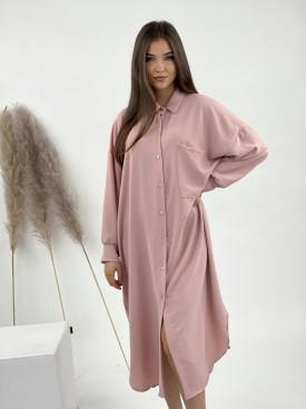 Šaty dlouhé košilové na knoflíky 1075