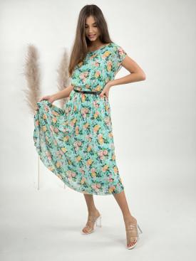 Šaty dlouhé kvítky 8839