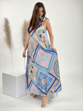 Šaty dlouhé ornament 14041