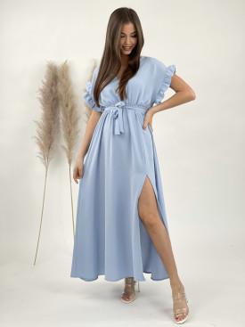 Šaty dlouhé s vázáním 21126